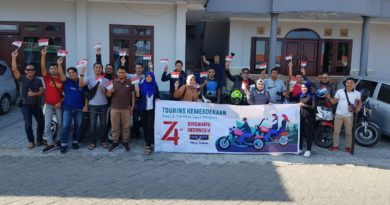 Touring Kemerdekaan, Komunitas Motor SR adakan upacara di alam terbuka