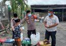 Kapolresta Sidoarjo dan Pejabat Utama Bagi Susu dan Masker
