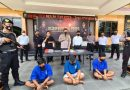 Tiga Pelaku Tindak Pidana Sekaligus Diringkus Polres Blitar Kota