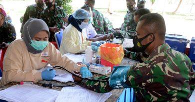 Prajurit Brigif 2 Marinir Gedangan Donor Darah Karena akan Melakukan Acara ini