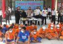 Dua Pekan gelar Operasi Pekat 2021 Polres Blitar Berhasil Bekuk Puluhan Tersangka dari Berbagai Tindak Pidana